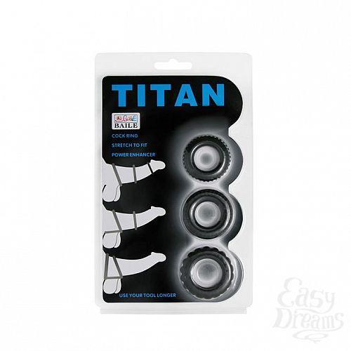 Фотография 6  Набор из 3 эрекционных колец, имитирующих автомобильные шины, Titan