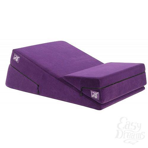 Фотография 1:  Фиолетовая подушка для секса из двух частей  Liberator Wedge/Ramp Combo
