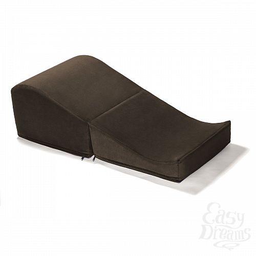 Фотография 4  Коричневая вельветовая подушка для любви Liberator Retail Flip Ramp