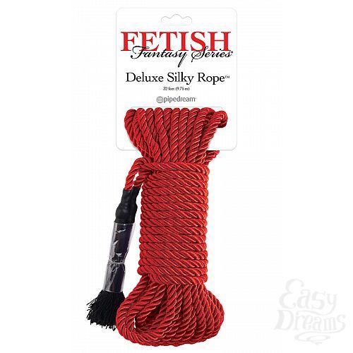 Фотография 1:  Красная веревка для фиксации Deluxe Silky Rope - 975 см.