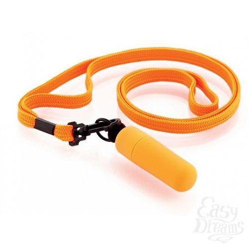 Фотография 1:  Набор из 10 оранжевых вибропулек Funny Five на шнурке