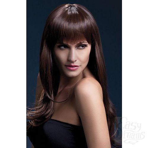 Фотография 1:  Каштановый парик Sienna