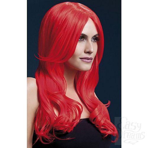 Фотография 1:  Красный парик с длинной челкой Khloe