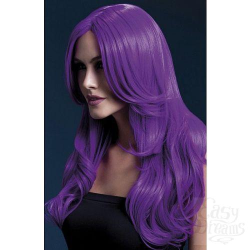 Фотография 1:  Сиреневый парик с длинной челкой Khloe