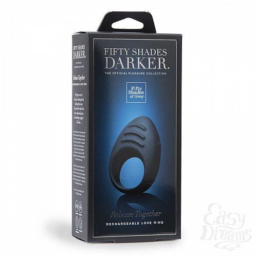 Фотография 4  Тёмно-синее эрекционное кольцо DARKER RELEASE TOGETHER LOVE RING