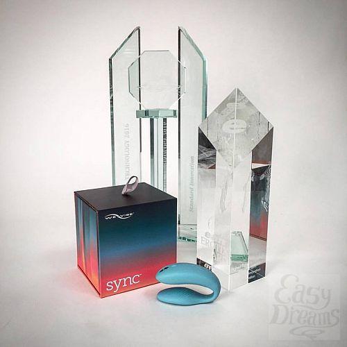 Фотография 10 We-Vibe Инновационный вибратор для пар We-vibe Sync - бирюзовый, Бирюзовый