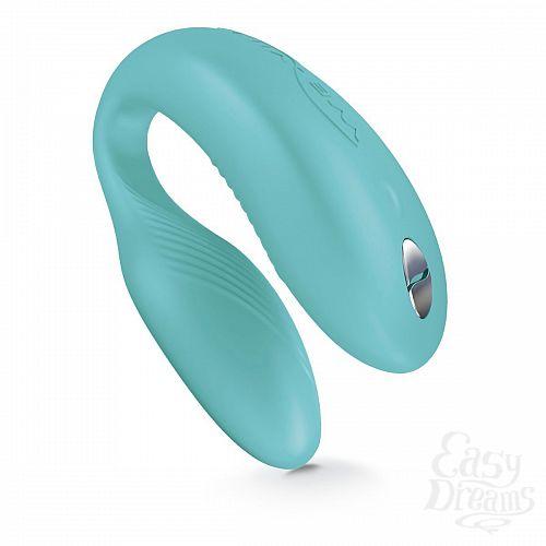 Фотография 4 We-Vibe Инновационный вибратор для пар We-vibe Sync - бирюзовый, Бирюзовый