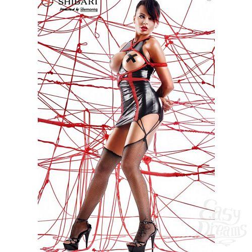 Фотография 1: Demoniq Платье с открытой грудью Yuriko с веревками для связывания (Shibari), L, Черный