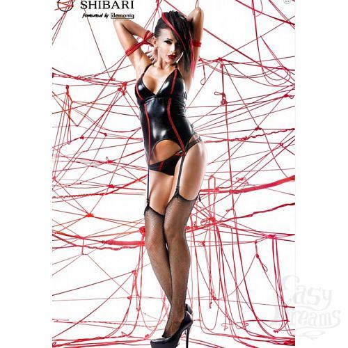 Фотография 1: Demoniq Корсаж из матовой кожи Emi с веревками для связывания (Shibari), L