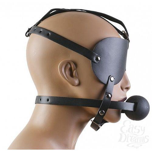 Фотография 3  Чёрная маска с шариком-кляпом