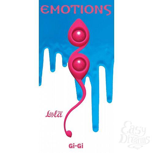 Фотография 1:  Розовые вагинальные шарики Emotions Gi-Gi