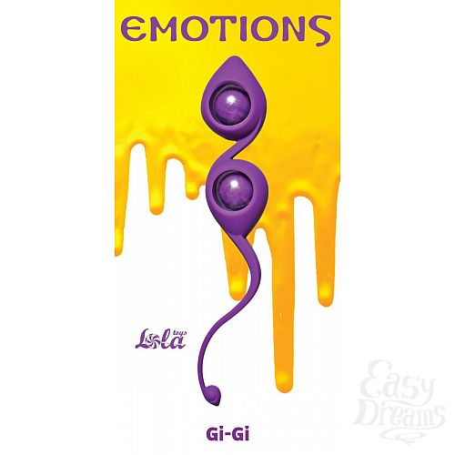 Фотография 1:  Фиолетовые вагинальные шарики Emotions Gi-Gi
