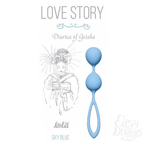 Фотография 1:  Голубые вагинальные шарики Diaries of a Geisha