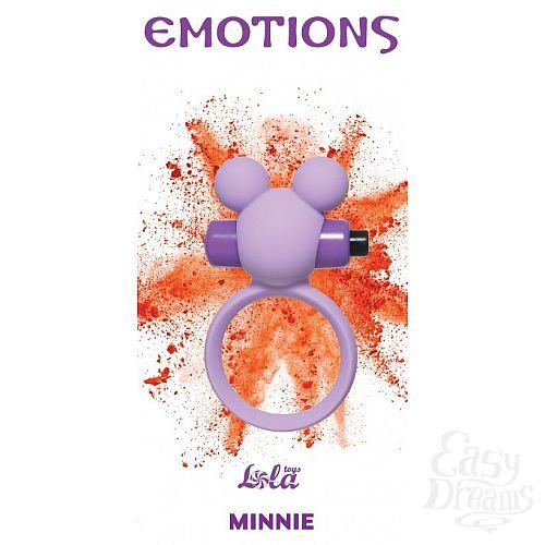 Фотография 1:  Сиреневое эрекционное виброколечко Emotions Minnie