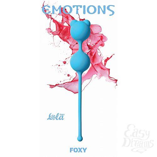 Фотография 1:  LOLA TOYS  Вагинальные шарики Emotions Foxy turquoise 4001-03Lola