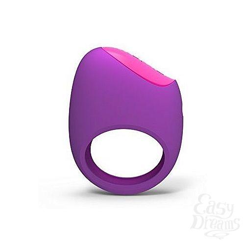 Фотография 1:  Фиолетовое перезаряжаемое эрекционное кольцо LIFEGUARD RING VIBE