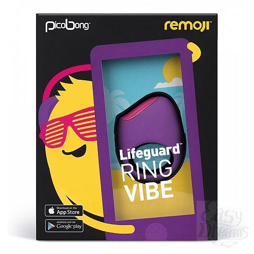Фотография 2  Фиолетовое перезаряжаемое эрекционное кольцо LIFEGUARD RING VIBE