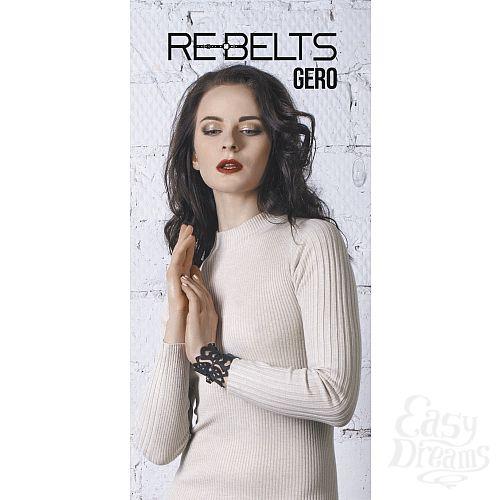 Фотография 1: Rebelts Браслет резной Gero Black 7713rebelts