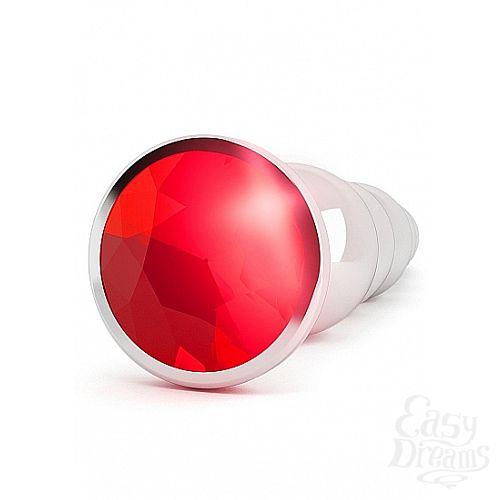 Фотография 5 Shotsmedia Анальная пробка с рубиновым кристаллом, 3 см., Серебряный