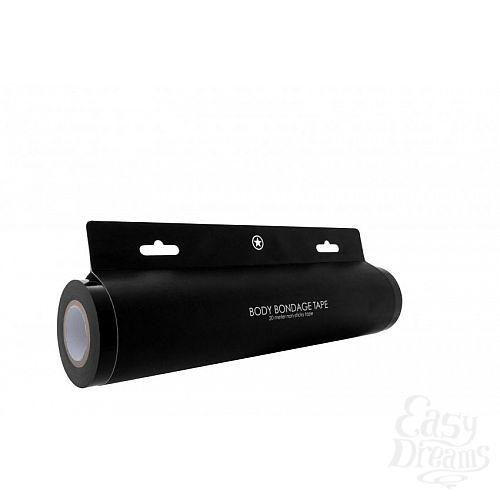 Фотография 3  Чёрная широкая лента для тела Body Bondage Tape - 20 м.
