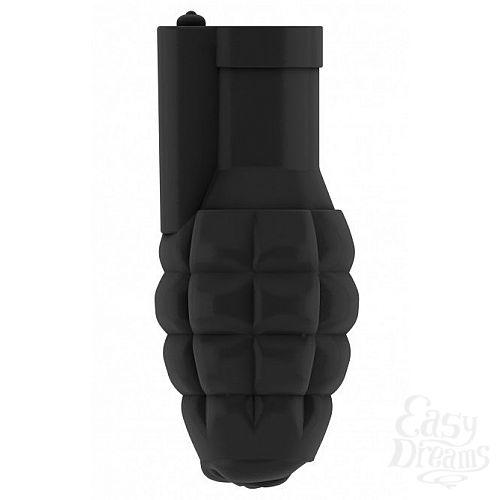 Фотография 1:  Чёрный мастурбатор-граната с вибрацией Stroker No.22