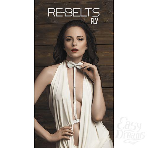 Фотография 1: Rebelts Портупея-чокер Fly White - Rebelts, One Size, Белый