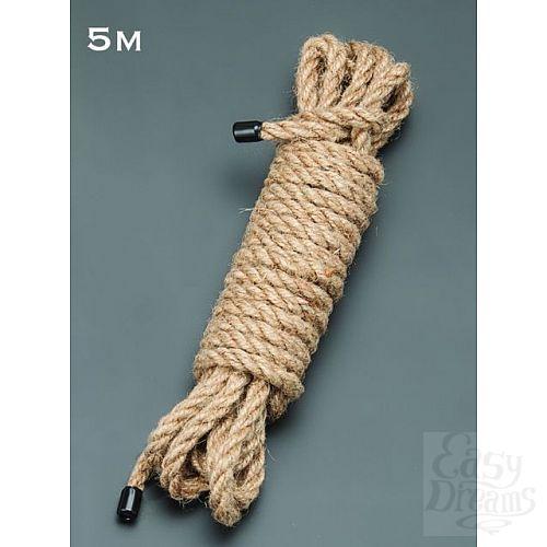 Фотография 1:  Пеньковая верёвка для бондажа - 5 м.