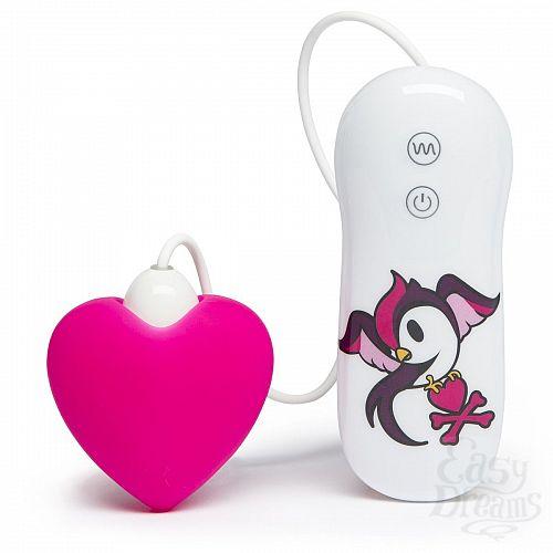 Фотография 1:  Розовый клиторальный вибростимулятор-сердечко SILICONE PINK HEART CLITORAL VIBRATOR