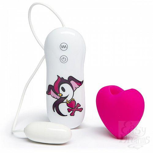 Фотография 2  Розовый клиторальный вибростимулятор-сердечко SILICONE PINK HEART CLITORAL VIBRATOR