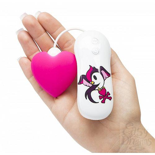 Фотография 3  Розовый клиторальный вибростимулятор-сердечко SILICONE PINK HEART CLITORAL VIBRATOR