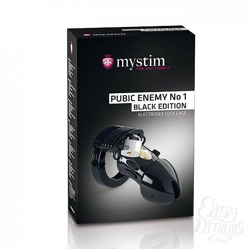 Фотография 1:  Пояс верности с электростимуляцией Mystim Pubic Enemy No1 Black Edition