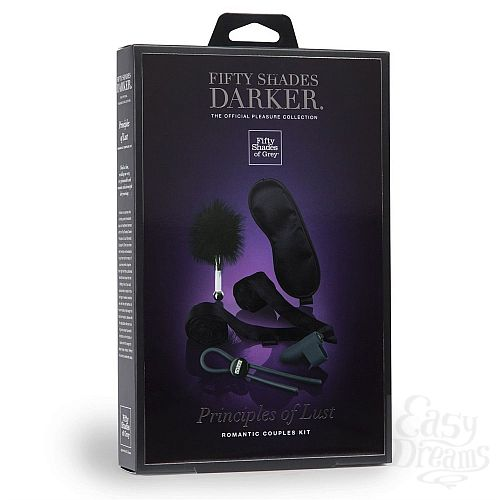Фотография 6 Fifty Shades of Grey Игровой набор Darker Principles Of Lust Romance Couples Kit - Fifty Shades of Grey, Черный