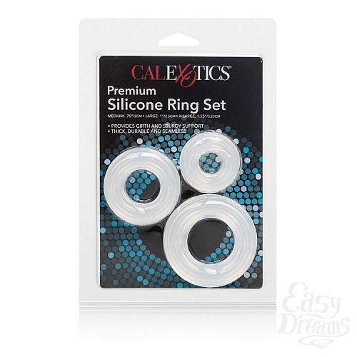 Фотография 3  Набор из 3 колец на пенис Premium Silicone Ring Set