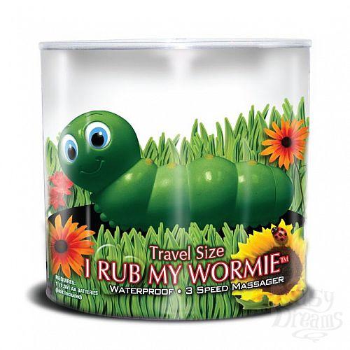 Фотография 3  Вибратор-гусеница I Rub My Wormie Green