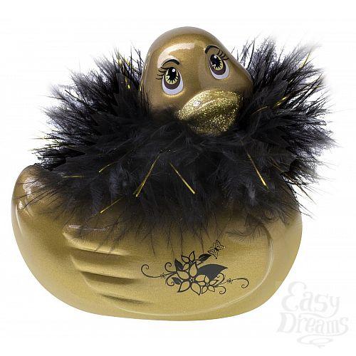 Фотография 1:  Золотистый массажер-уточка I Rub My Duckie Paris Gold Travel Size