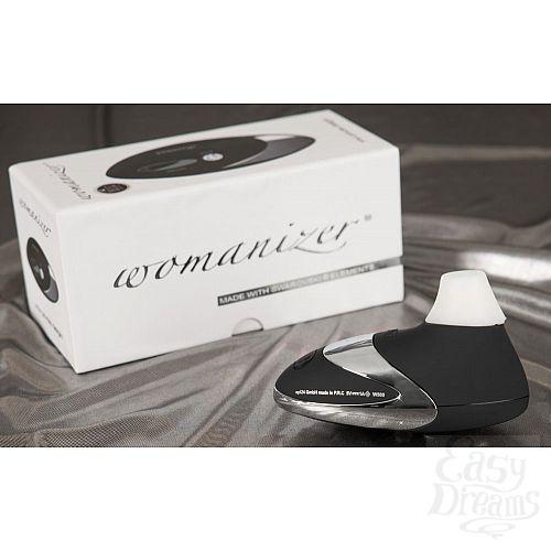 Фотография 4 Womanizer Вакуумный стимулятор клитора Womanizer W500 Deluxe Black Chrome, Черный