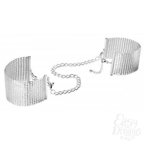 Фотография 1:  Серебристые наручники-браслеты Desir Metallique Handcuffs