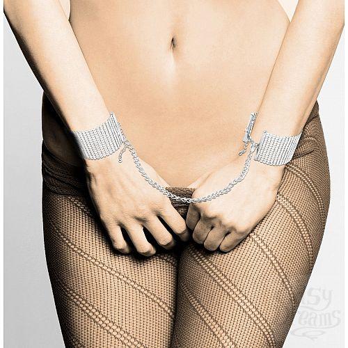 Фотография 2  Серебристые наручники-браслеты Desir Metallique Handcuffs