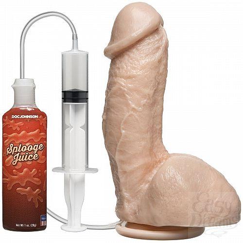 Фотография 1:  Фаллоимитатор с имитацией семяизвержения The Amazing Squirting Realistic Cock - 18,8 см.