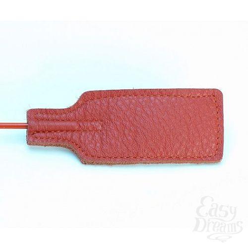 Фотография 3  Красный кожаный стек с прямоугольным шлепком - 68 см.