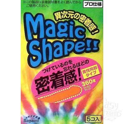 Фотография 1:  Презервативы Sagami Xtreme Magic Shape с ребристым швом - 5 шт.