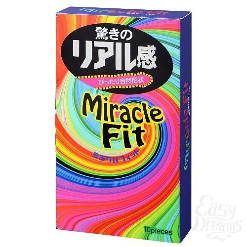 Фотография 1:  Презервативы Sagami Xtreme Miracle Fit - 10 шт.