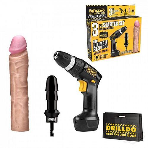 Фотография 1:  Секс-набор из 3 предметов DRILLDO STARTER SET 3 PIECE