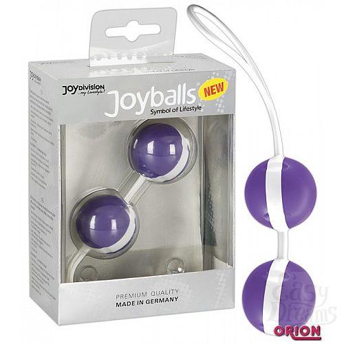 Фотография 1:  Фиолетово-белые вагинальные шарики Joyballs Bicolored