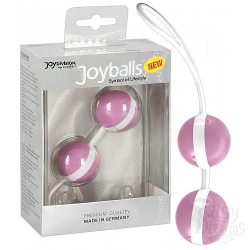 Фотография 1:  Нежно-розовые вагинальные шарики Joyballs Bicolored