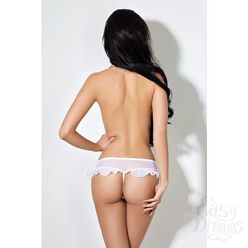 Фотография 2  Завлекающие белые трусики с доступом и нежной юбочкой