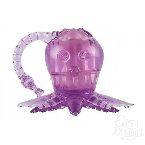 Фотография 1:  Фиолетовый вибростимулятор в виде осьминога