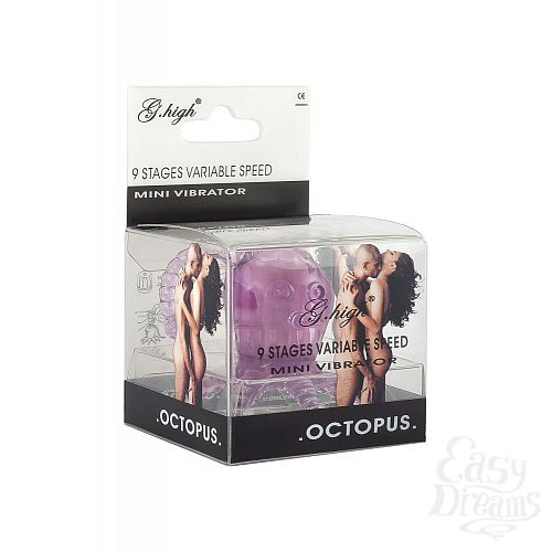Фотография 2  Фиолетовый вибростимулятор в виде осьминога