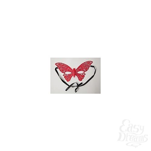 Фотография 1:  Кружевная маска в форме бабочки