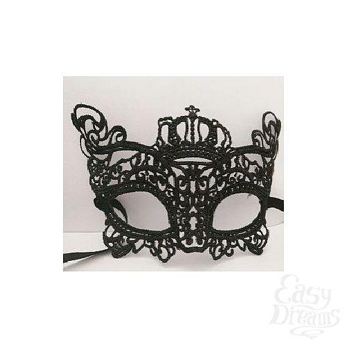 Фотография 2  Кружевная маска в венецианском стиле с маленькой короной